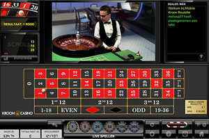Live Roulette bij Kroon Casino